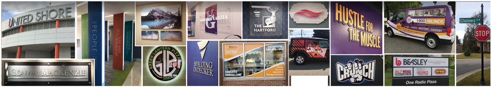 indoor interior signs page banner