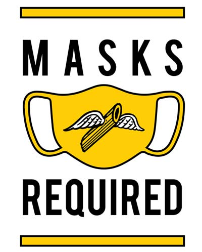 covid masks required sign